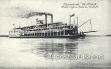 shi075543 - St Paul, Dubuque, Iowa, USA Steamer, Steam Boat, Steamboat, Ship, Ships, Postcard Post Cards