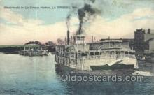 shi075544 - In La Crosse Harbor, Wis, USA Steamer, Steam Boat, Steamboat, Ship, Ships, Postcard Post Cards