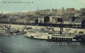 shi075554 - Wharf Scene  St Louis, Mo, USA Steamer, Steam Boat, Steamboat, Ship, Ships, Postcard Post Cards