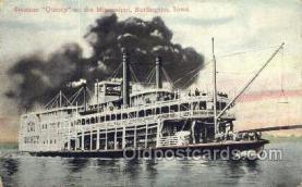 shi075557 - Quincy, Burlington, Iowa, USA Steamer, Steam Boat, Steamboat, Ship, Ships, Postcard Post Cards