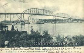 shi075559 - High Bridge, lyons, Iowa, USA Steamer, Steam Boat, Steamboat, Ship, Ships, Postcard Post Cards