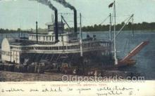 shi075562 - Unloading Cotton, Memphis, Tennessee, USA Steamer, Steam Boat, Steamboat, Ship, Ships, Postcard Post Cards