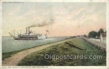 shi075572 - The Levee At Chalmette Steamer, Steam Boat, Steamboat, Ship, Ships, Postcard Post Cards