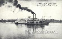 shi075577 - Quincy, Dubuque, Iowa, USA Steamer, Steam Boat, Steamboat, Ship, Ships, Postcard Post Cards