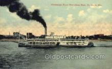 shi075579 - Mississippi River, St. Louis Mo. USA Steamer, Steam Boat, Steamboat, Ship, Ships, Postcard Post Cards