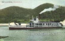 shi075586 - Ohio River Scene, Portsmouth, Ohip, USA Steamer, Steam Boat, Steamboat, Ship, Ships, Postcard Post Cards