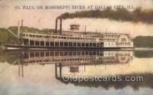 shi075593 - St Paul Steamer, Steam Boat, Steamboat, Ship, Ships, Postcard Post Cards