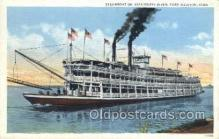 shi075596 - Steamboat On The Mississippi River Steamer, Steam Boat, Steamboat, Ship, Ships, Postcard Post Cards