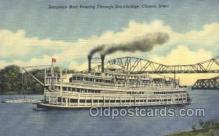 shi075600 - Excursion Boat Passing Through Drawbridge Steamer, Steam Boat, Steamboat, Ship, Ships, Postcard Post Cards