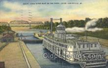 shi075610 - Ohio River Canal Locks Steamer, Steam Boat, Steamboat, Ship, Ships, Postcard Post Cards