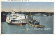 shi075614 - Mississippi River View Steamer, Steam Boat, Steamboat, Ship, Ships, Postcard Post Cards