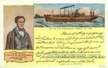 shi075615 - John Fitch, Inventor of Steam Boat Steamer, Steam Boat, Steamboat, Ship, Ships, Postcard Post Cards