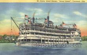 shi075624 - Cincinnati, Ohio, USA Steamer, Steam Boat, Steamboat, Ship, Ships, Postcard Post Cards