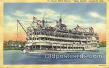 shi075626 - Island Queen Steamer, Steam Boat, Steamboat, Ship, Ships, Postcard Post Cards
