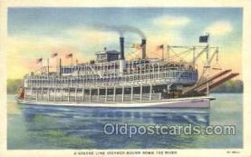 shi075639 - Green Line Steamer Steamer, Steam Boat, Steamboat, Ship, Ships, Postcard Post Cards