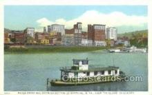 shi075646 - Water Front And Business Section Of Wheeling Steamer, Steam Boat, Steamboat, Ship, Ships, Postcard Post Cards