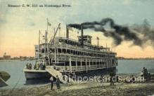 shi075652 - GW Hill Steamer, Steam Boat, Steamboat, Ship, Ships, Postcard Post Cards