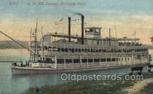 shi075653 - GW Hill Steamer, Steam Boat, Steamboat, Ship, Ships, Postcard Post Cards