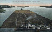 shi075662 - Log Raft On The Mississippi River Steamer, Steam Boat, Steamboat, Ship, Ships, Postcard Post Cards
