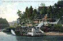 shi075667 - Larks Hotel And Boat Landing, Kilborn City, Wis. USA Steamer, Steam Boat, Steamboat, Ship, Ships, Postcard Post Cards