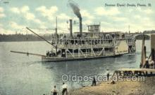shi075686 - David Swain, Peoria, Illinois, Ill, USA Steamer, Steam Boat, Steamboat, Ship, Ships, Postcard Post Cards
