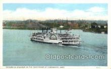 shi075702 - Excursion Steamer On Ohio River Steamer, Steam Boat, Steamboat, Ship, Ships, Postcard Post Cards