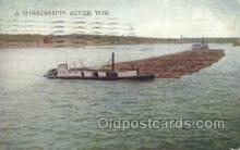 shi075718 - Mississippi River tow Steamer, Steam Boat, Steamboat, Ship, Ships, Postcard Post Cards