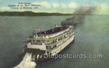 shi075729 - Delta Queen, Largest of the Stern Wheelers on Kentucky Lake USA Ferry Boat, Ferries, Ship, Ships, Postcard Post Cards