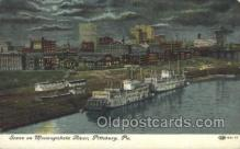 shi075734 - Scene On Monongahela River, Pittsburg, PA USA Ferry Boat, Ferries, Ship, Ships, Postcard Post Cards