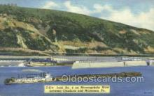 shi075736 - Lock No 4 Monongahela, Monessen, PA USA Ferry Boat, Ferries, Ship, Ships, Postcard Post Cards