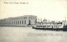 shi075737 - Water Power House, Keokuk, IA USA Ferry Boat, Ferries, Ship, Ships, Postcard Post Cards