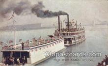 shi075740 - River Scene Kansas City MO Ferry Boat, Ferries, Ship, Ships, Postcard Post Cards