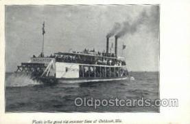 shi075753 - BF Carter, Oshkosh, Wisconsin, USA Ferry Boat, Ferries, Ship, Ships, Postcard Post Cards