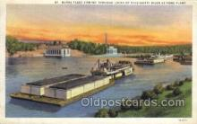 shi075754 - Barge Fleet Mississippi at Ford Plant Ferry Boat, Ferries, Ship, Ships, Postcard Post Cards