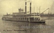 shi075755 - The Andes, Portsmouth, Ohio, USA Ferry Boat, Ferries, Ship, Ships, Postcard Post Cards