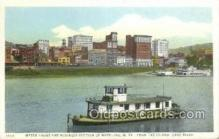 shi075756 - Water Front And Business Section Of Wheeling, West Virginia, USA Ferry Boat, Ferries, Ship, Ships, Postcard Post Cards