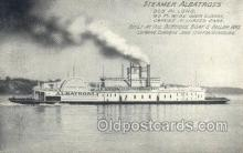 shi075757 - Steamer Albatross, Leaving Dubuque June 19th for Vicksburg, USA Ferry Boat, Ferries, Ship, Ships, Postcard Post Cards