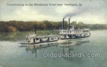 shi075766 - Steamboats On The Mississippi River Ferry Boat, Ferries, Ship, Ships, Postcard Post Cards