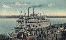 shi075775 - Peoria III Ferry Boat, Ferries, Ship, Ships, Postcard Post Cards