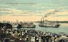 shi075776 - Steamboats Landing Levee Park Ferry Boat, Ferries, Ship, Ships, Postcard Post Cards