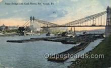shi075782 - Point Bridge And Coal Fleets Ferry Boat, Ferries, Ship, Ships, Postcard Post Cards