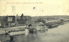 shi075791 - Union Depot And Boat Docks Ferry Boat, Ferries, Ship, Ships, Postcard Post Cards
