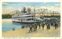 shi075792 - Boat Landing Mississippi River Ferry Boat, Ferries, Ship, Ships, Postcard Post Cards