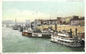 shi075794 - Mononghela wharves Ferry Boat, Ferries, Ship, Ships, Postcard Post Cards