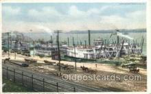 shi075796 - The Levee From The Bluff Ferry Boat, Ferries, Ship, Ships, Postcard Post Cards