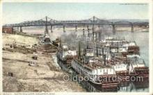 shi075797 - Along The Levee Ohio Ferry Boat, Ferries, Ship, Ships, Postcard Post Cards