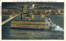 shi075802 - WJ Quinian Ferry, Rock Island & Davenport, Iowa Ferry Boat, Ferries, Ship, Ships, Postcard Post Cards
