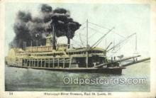 shi075805 - Mississippi River Steamer Ferry Boat, Ferries, Ship, Ships, Postcard Post Cards