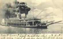 shi075808 - Mississippi River Steamer Ferry Boat, Ferries, Ship, Ships, Postcard Post Cards