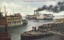 shi075810 - Excursion Steamer Leaving Wharf Ferry Boat, Ferries, Ship, Ships, Postcard Post Cards
